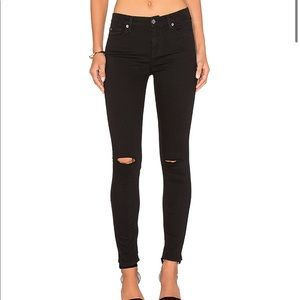 7 For All Mankind B(Air) Black Ankle Skinny